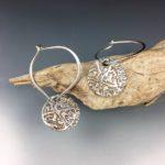 tree ring earrings